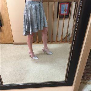 Anthropolgie Dolan silver skirt